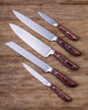 Stainless Steel Kitchen Knife Set With Wood Handle - 5 Piece Set