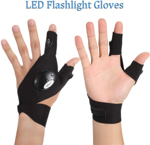 1 Pair LED Gloves with Waterproof Lights