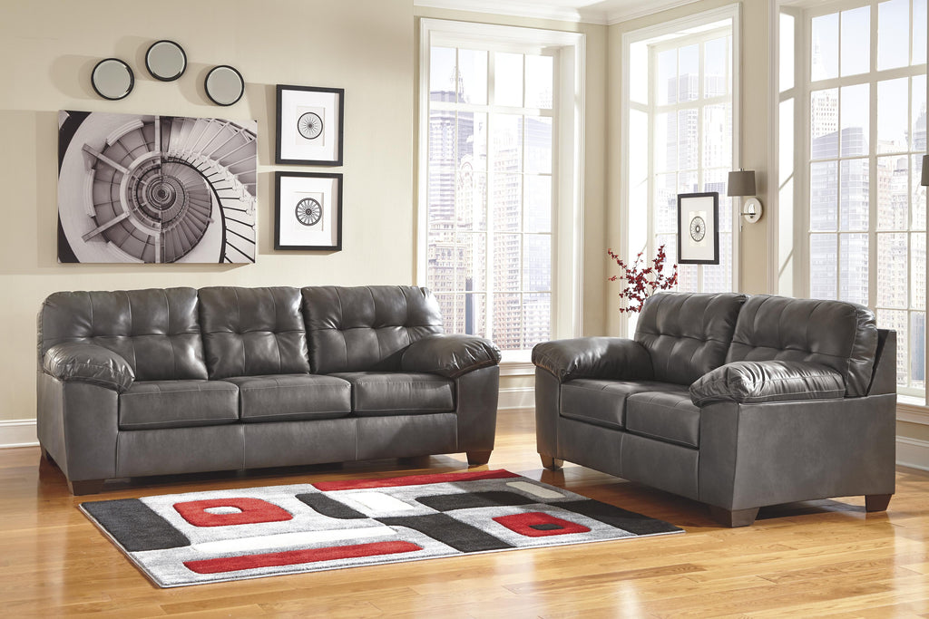 Alliston Grey Sofa and Loveseat