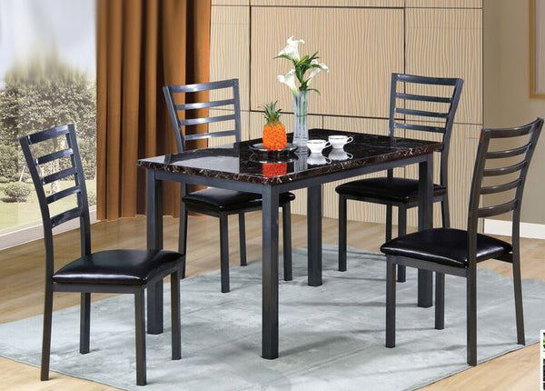 5PC Marble top dining table set