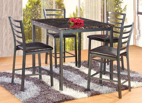 5PC Marble Top counterheight dining set