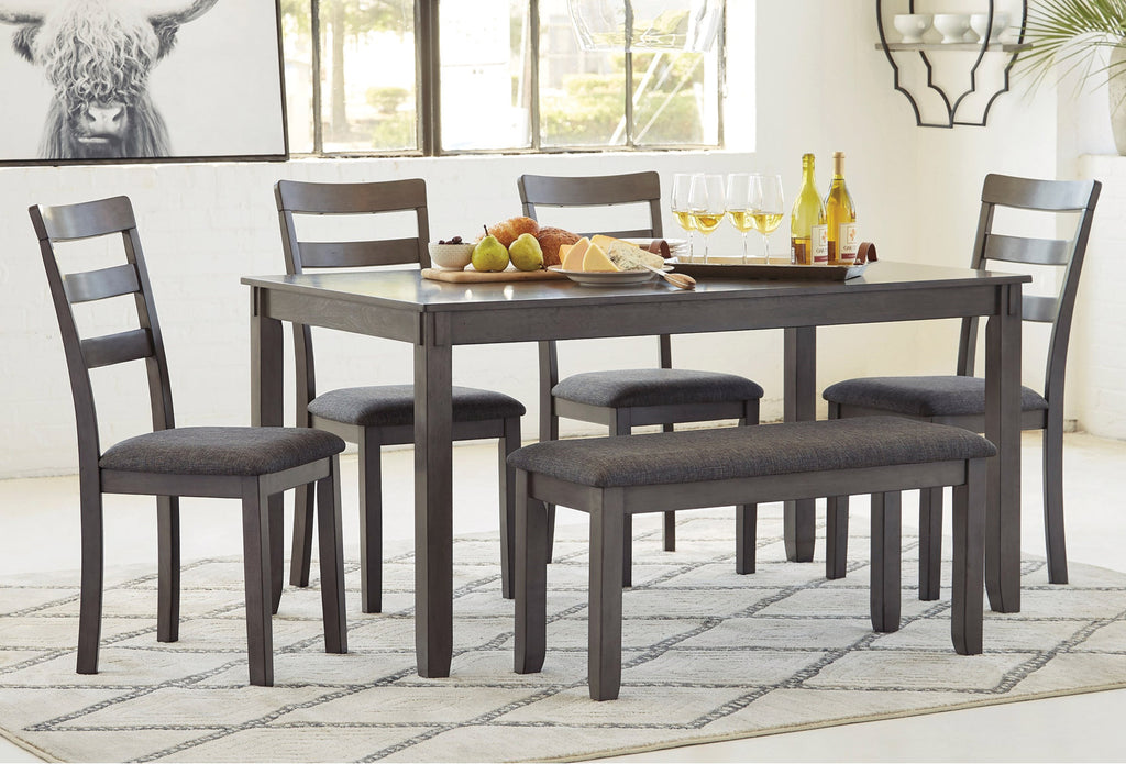 6PC Dining Set with Bench
