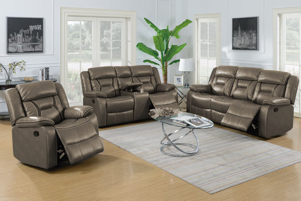 Grey Recliner Sofa and Loveseat