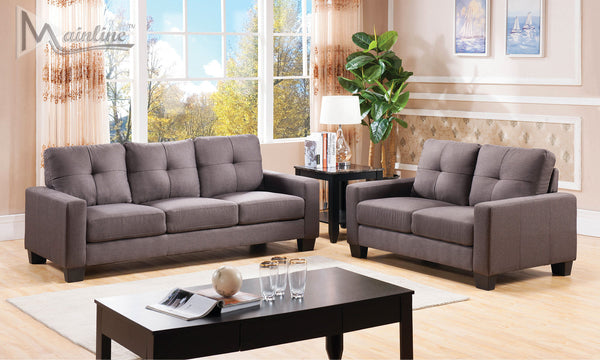 Stanza Charcoal Sofa Loveseat