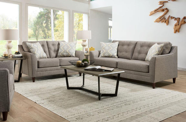 Lane Beige Sofa Loveseat