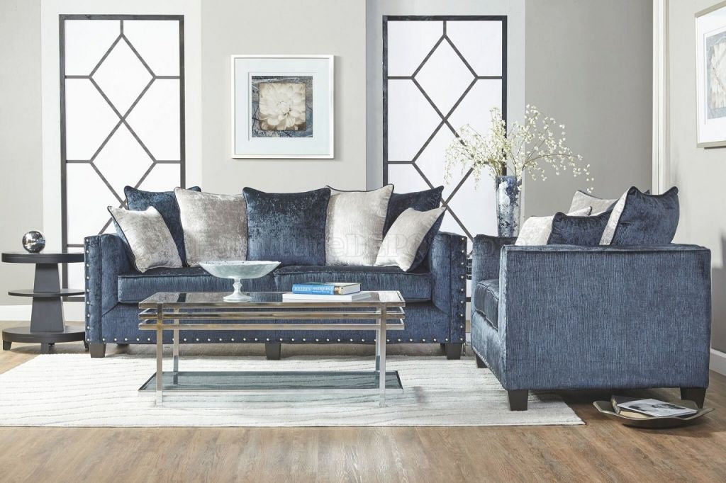Bliss Midnight Sofa & Loveseat