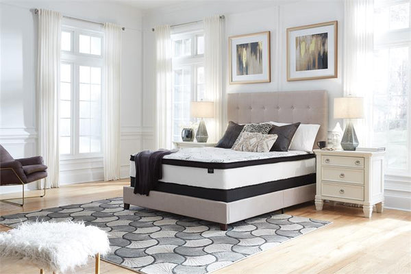 Chime Semi Firm Queen Size Mattress and Box Spring by Ashley