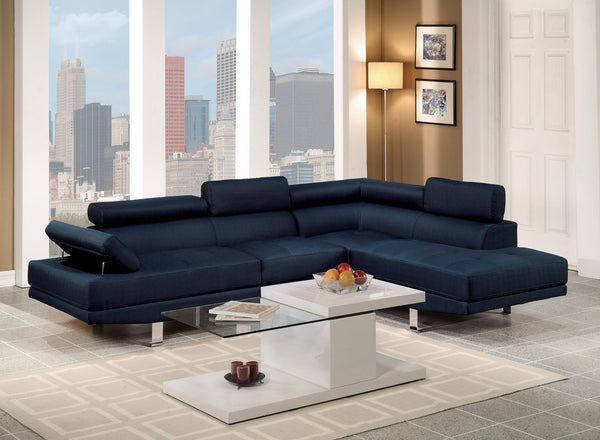 F7569 Blue Sectional