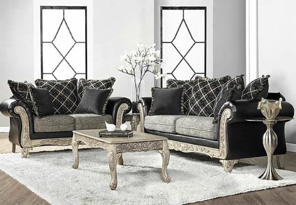 Sammar Ebony Sofa & Loveseat
