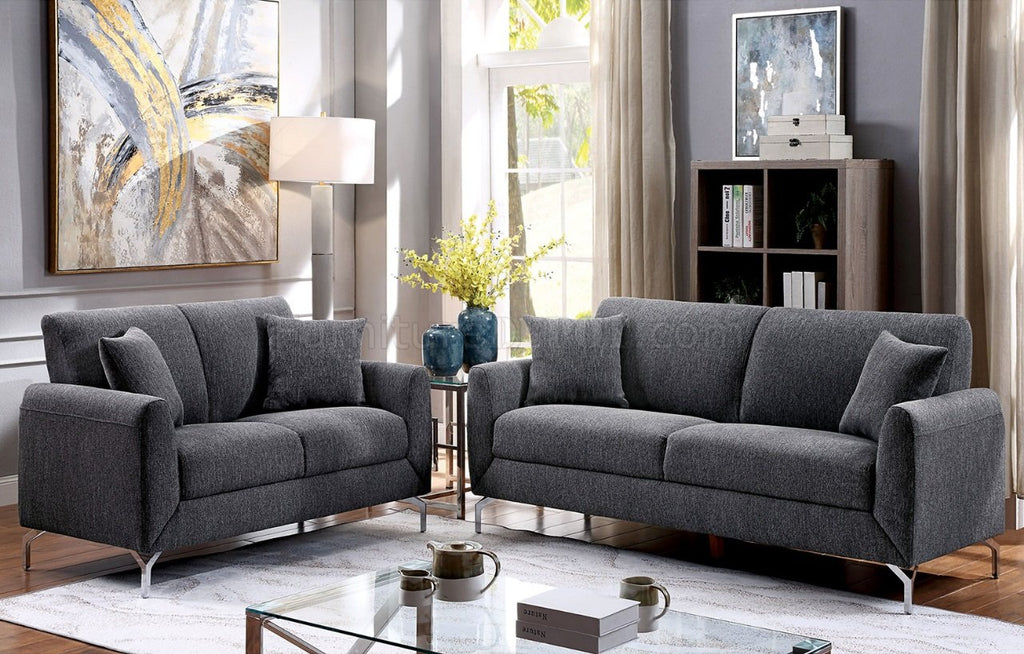 The Lauritz Grey Sofa Loveseat