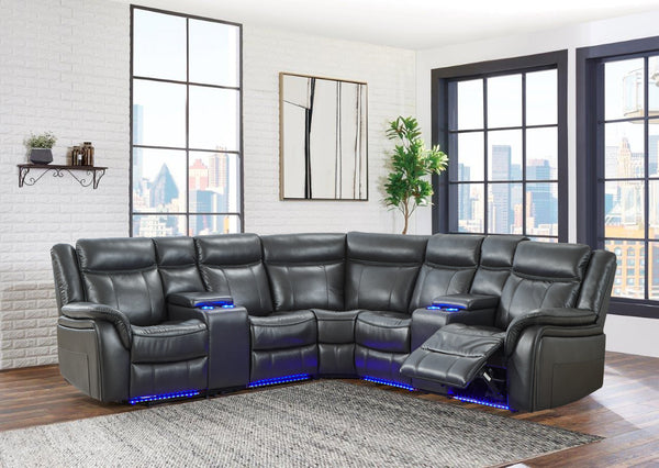 Agnes L.E.D Lighted Sectional