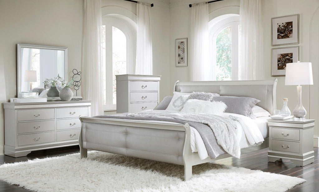 Marley Bedroom Set Silver