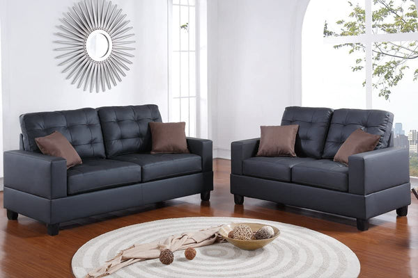 Poundex Sofa and Loveseat