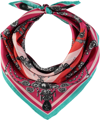 Felicia Medium Square Silk Twill Scarf