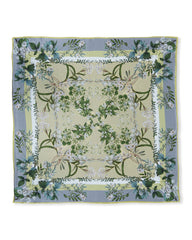 """Louise"" Large Square Silk Double-Sided Scarf"