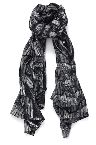 """Ticab"" Long Silk & Cotton Scarf"