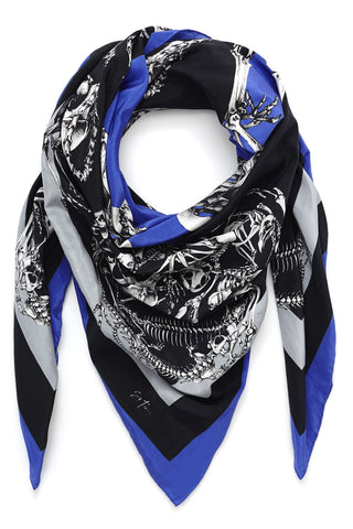 Large Square Silk & Cotton Scarf Siris