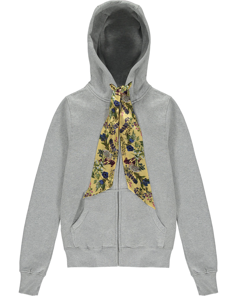 Silk String Zip-up Hoodie 'Ino'