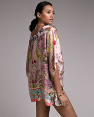 Silk Kaftan 'Louise Green'