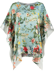 Silk Kaftan 'Laura Mint'