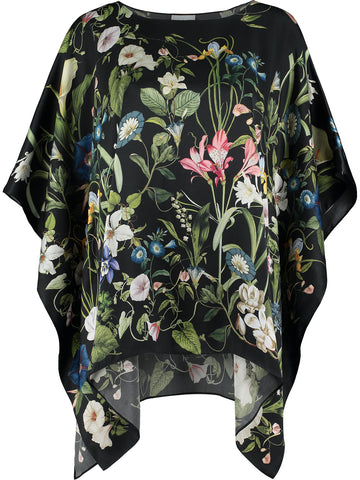 Silk Kaftan 'Leah Black'