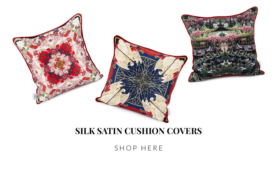St. Piece silk satin cushion covers