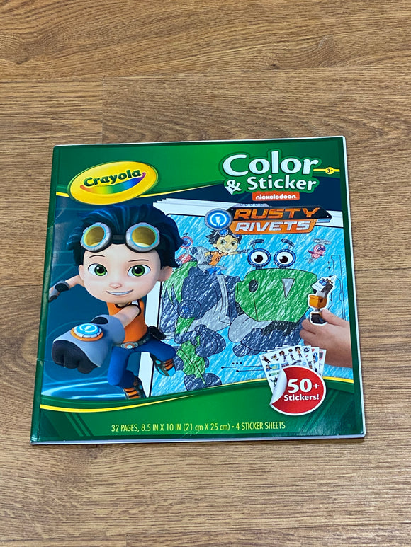 Crayola Rusty Rivets Color and Sticker Pad