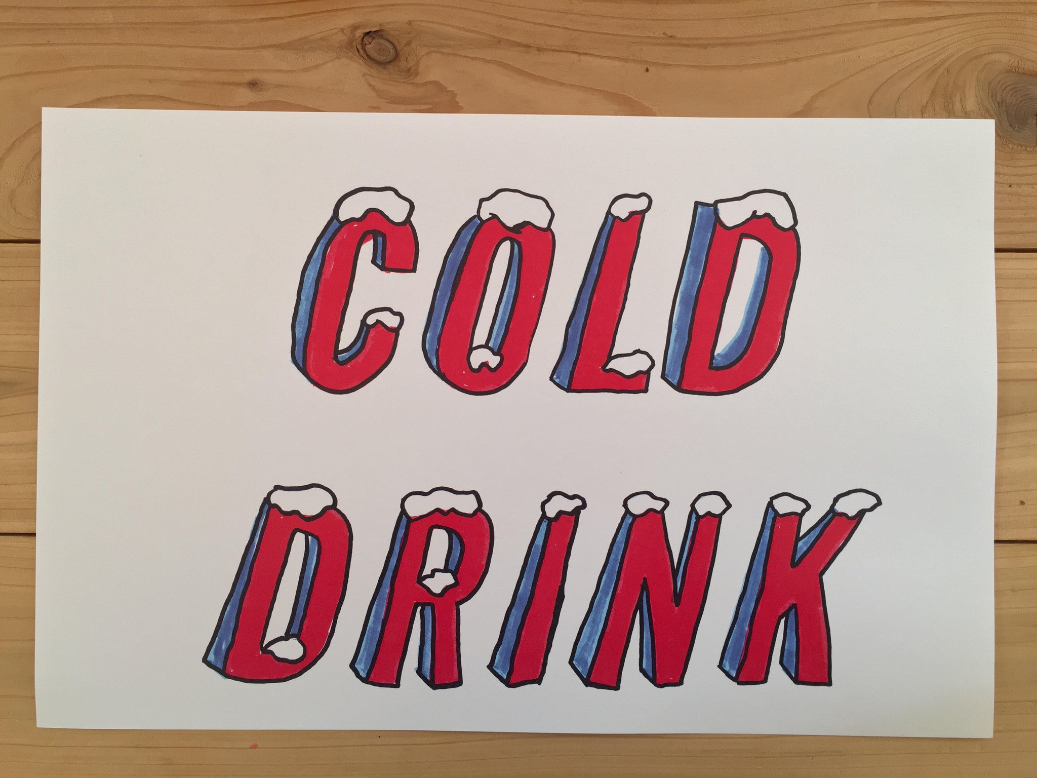 Cold Drink Icy Caps 11x17 Poster