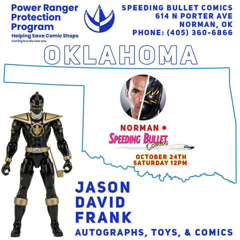 Jason David Frank promotional image for Oklahoma signing