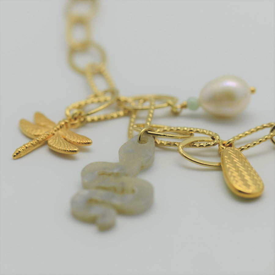 Halskette Gold lang Charms - Boutique Ammann