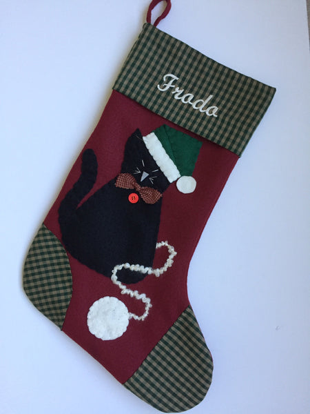 Cat Christmas Stocking- Mr. Jinks