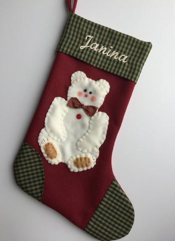 Polar Bear- Christmas Stocking