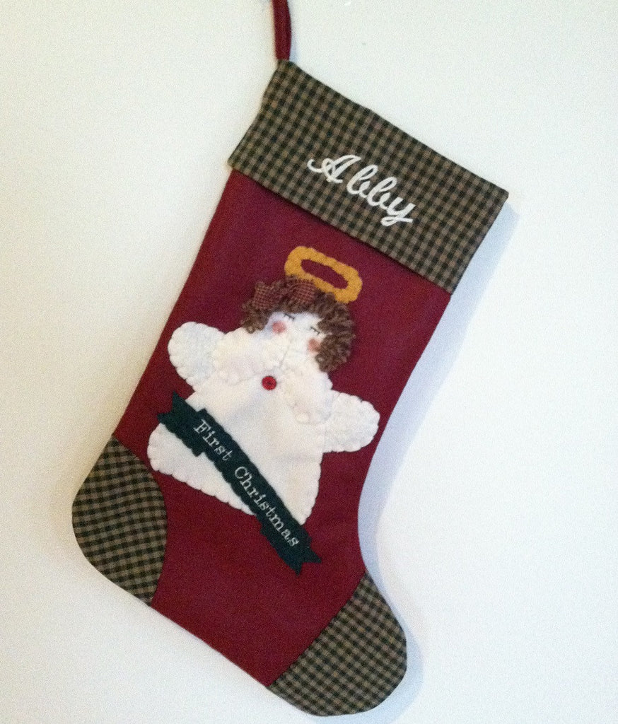 Christmas stocking baby angel