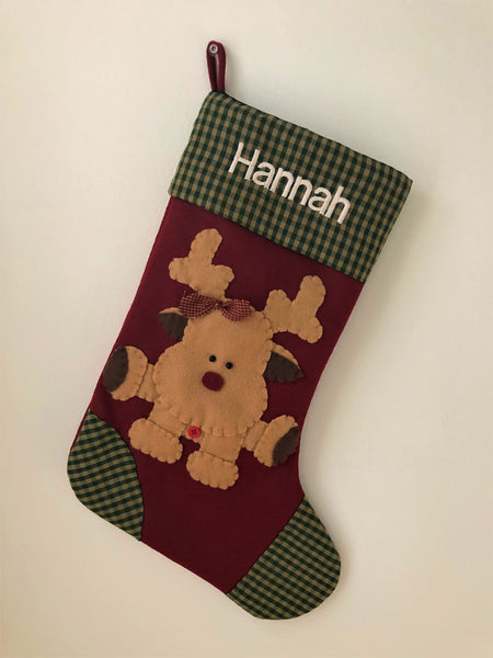Prancer-The Reindeer- Christmas Stocking