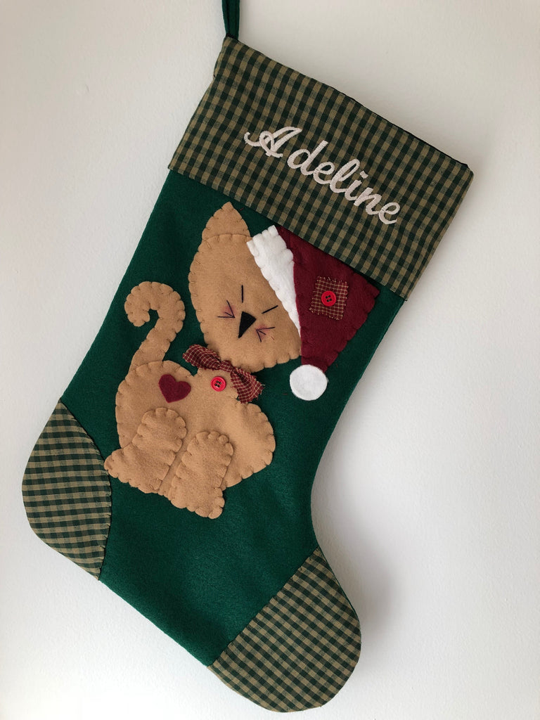 Cat Christmas Stocking- Tigger