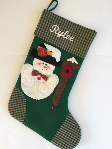 Snowbirds Welcome- Christmas Stocking