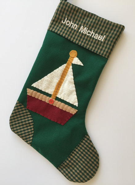 Sailboat Christmas Stocking