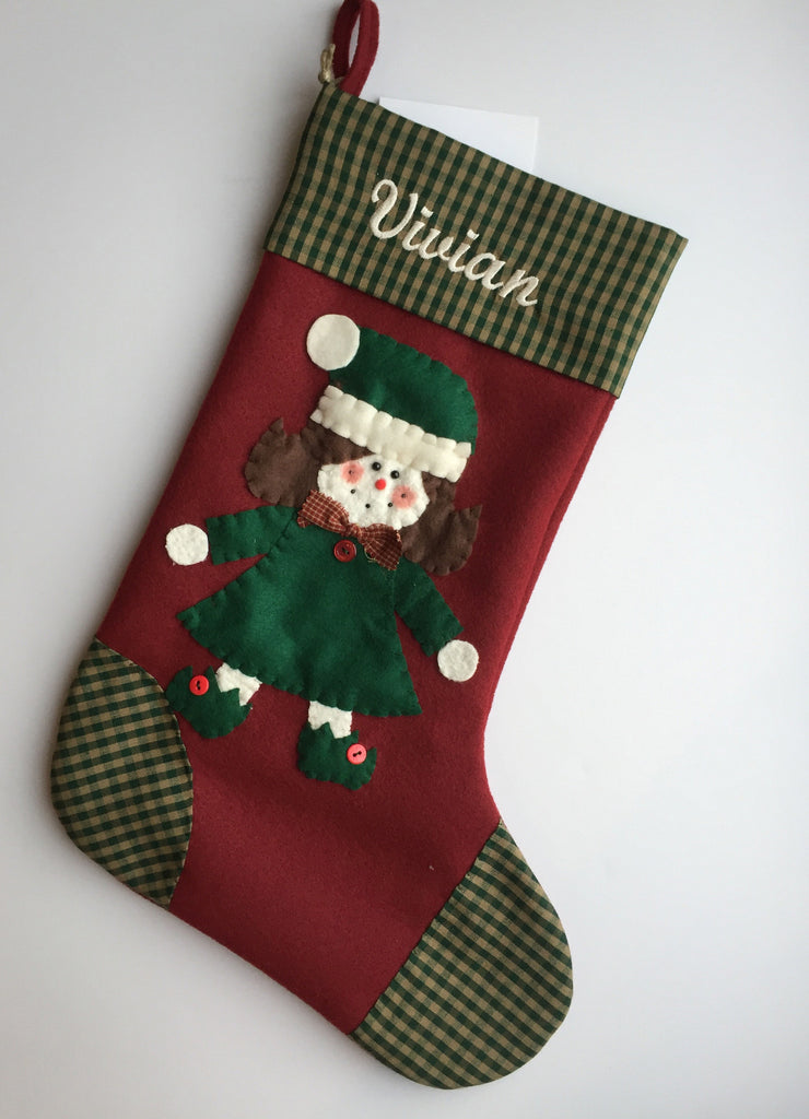 Judy the Elf- Christmas Stocking
