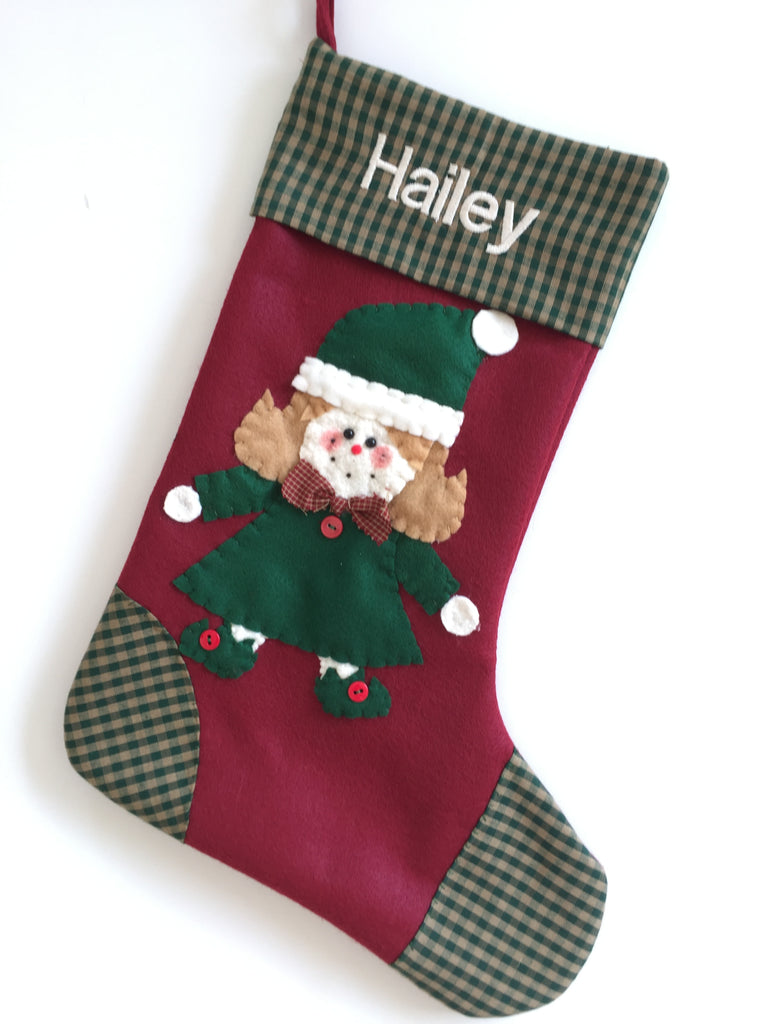 christmas stocking judy the elf - Girl Christmas Stocking