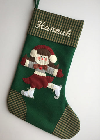 Ice Skater- Christmas Stocking