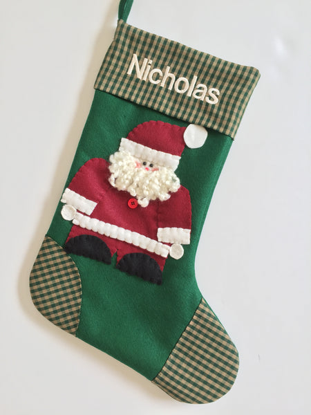 Christmas Stocking- Jolly Santa