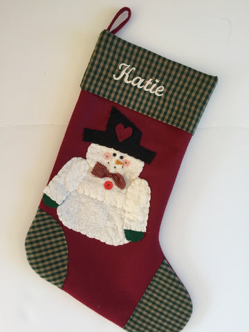 My Heart Belongs to Frosty- Christmas Stocking