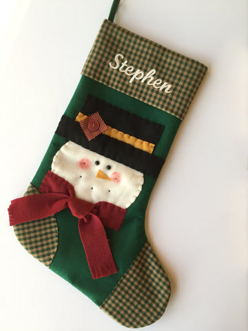 Jack the Snowman- Christmas Stocking