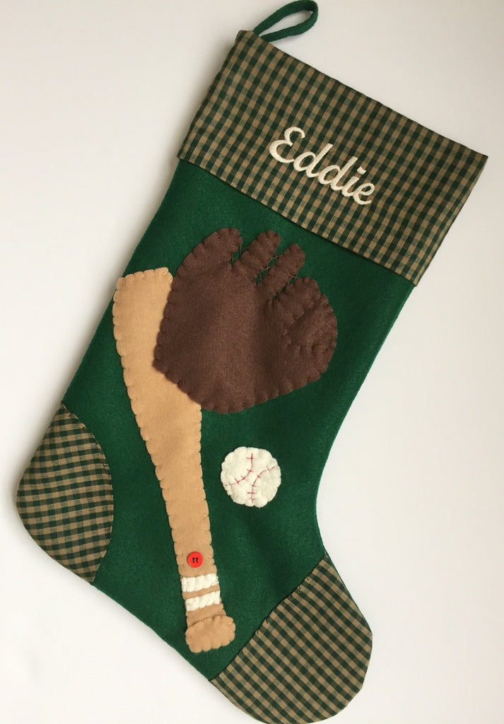 Batter Up!-Christmas Stocking