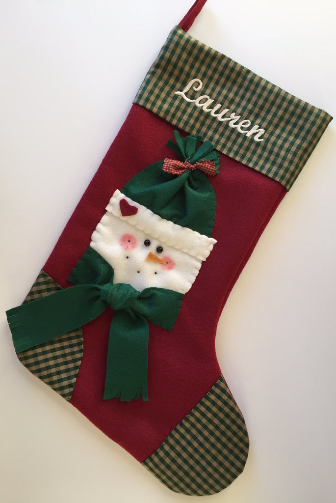 Girl Snowman Stocking- Brr, It's Cold Outside