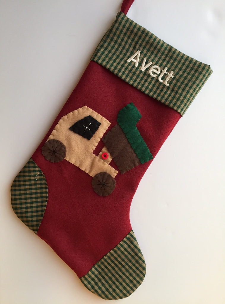 Dump Truck- Christmas Stocking
