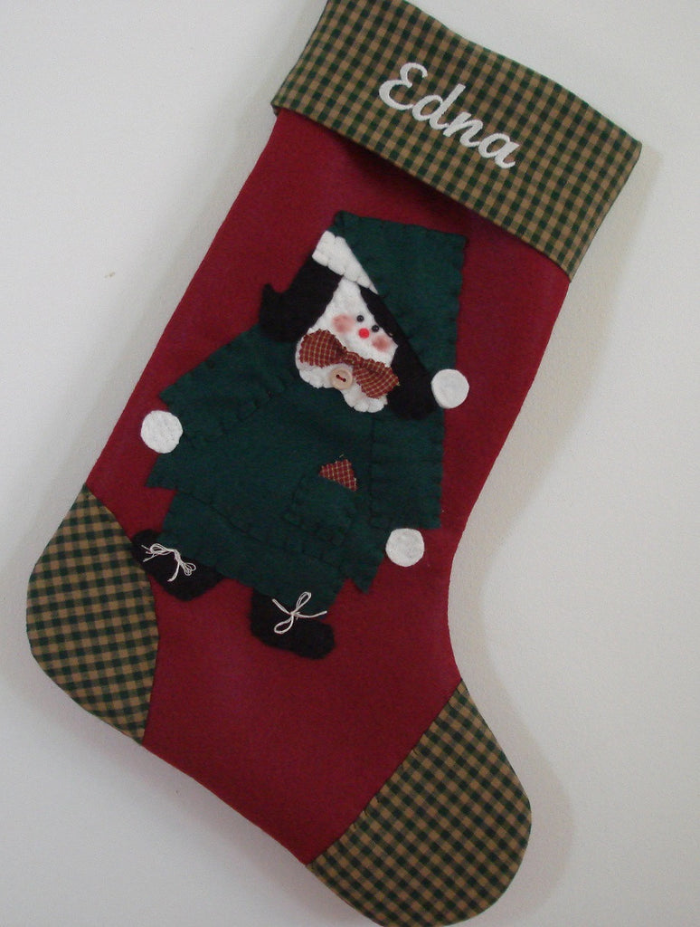Christmas stocking Mrs Claus Christmas stocking
