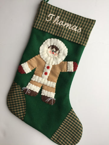 Eskimo Christmas Stocking
