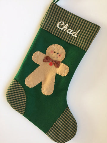 Little Gingerbread Man- Christmas Stocking