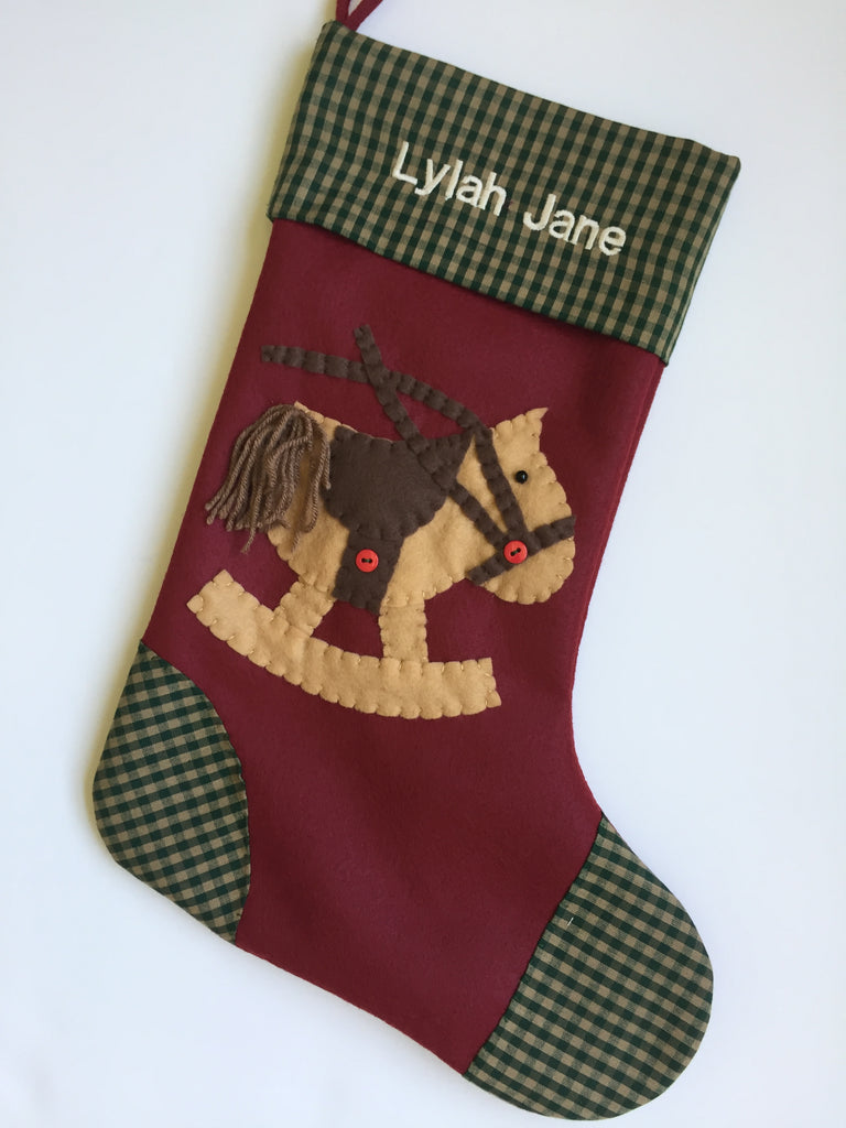 Magic the Rocking Horse- Christmas Stocking